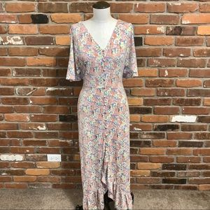 Vici Floral Maxi Dress Size Small